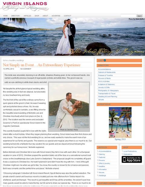Published - British Virgin Islands Wedding Magainze